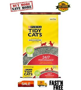 (Pack 3 - save money) Non Clumping Cat 24/7 Performance 30lb Bag 99.6% dust-free