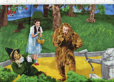 movie scenes ~ THE WIZARD OF OZ SCENIC ~ fabric bty