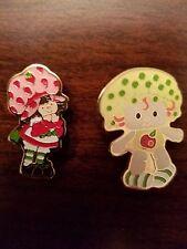 1980 Strawberry Shortcake & Apple Dumplin Pins American Greetings Collectibles