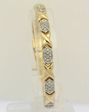 Armband 18 kt 750 Gelb Gold mit Diamanten Armreif Armspange Brillanten Brillant
