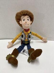 "Disney Store Toy Story 4 Sheriff Woody Cowboy Plush Toy 12"""