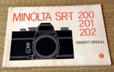 1970s Minolta Sr-T 200 / 201 / 202 Slr 35mm Camera Owners Instruction Manual