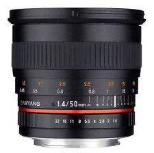 Objetivos automático y manual F/1, 4 para cámaras