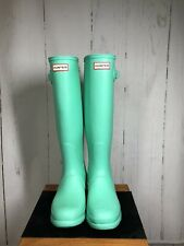 Brand New Women's Hunter Original Tall Boots Aqua Mint UK 6 EU 39 (Ref: 250)