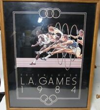 1984 L.A. GAMES OLYMPICS TRACK&FIELD 22x28 POSTER PETER J HEER