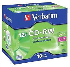 Verbatim Cd-r 700 Mb 80min 12x Hi Speed Joya Funda 10 Pack