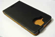 For Nokia Lumia 950xl Black Genuine Leather Classic Style Flip Case Cover Skin