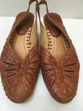 Women's Pikolinos Brown Leather Slingback Heels Size 37 EU 6.5 US Lovely