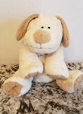 Ty Pluffies Plopper Cream Tan Puppy Dog Plush 2002 Stuffed Animal