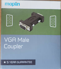 VGA Male Coupler - NEW - Maplin