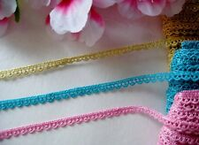 Very pretty, tiny 3 colors lace trim/ ribbon - price for 1 yard