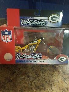 Ertl Collectibles 1:18 Die Cast Metal OCC Chopper Greenbay Packers