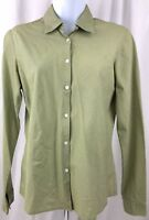 Brooks Brothers Dress Shirt Blouse Long Sleeve Button Front Sz XS Green Striped