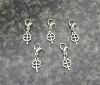 Set Of 5 Stitch Markers Knitting Crochet Accessory four leaf clover Needle craft