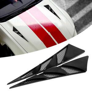 1 Pair Universal Car Simulation Hood Vent Air Flow Sticker Decor Car Accessories
