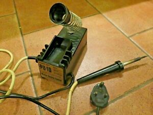 Vintage pre 1947 Bakelite Weller soldering iron station in working condition.