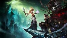 "Poster Silk World of Warcraft Game Decor 24x42"" image picture scene Blood Elf 3"