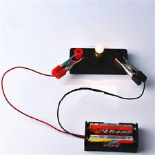 Electric Circuit Kit Kids Student School Science Light Bulbs Toy Educational DIY