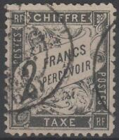 """FRANCE STAMP TIMBRE TAXE N° 23  """" TYPE DUVAL  2F  NOIR """" OBLITERE TB A VOIR"""