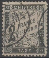 "FRANCE STAMP TIMBRE TAXE N° 23  "" TYPE DUVAL  2F  NOIR "" OBLITERE TB A VOIR"