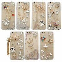 3D Luxury Bling Diamond Rhinestone Crystal Jewelled Hard Clear Phone Case Cover