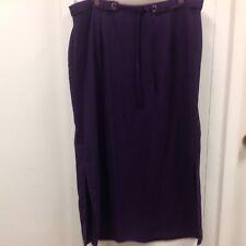 Studio C Plus Women's Size 18 Long Purple Maxi Skirt  Modest Zip Side Slits K105
