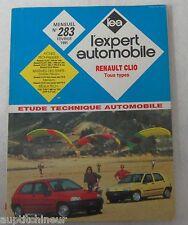 Revue technique EXPERT AUTOMOBILE 283 1991 Renault clio tous type