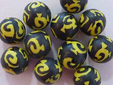 Fimo perla 12 mm negro amarillo bala redonda 20 trozo 2142