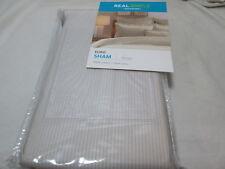 New Real Simple Solutions Linear Stone Stripe Euro Eurpean Pillow Sham 26x26 Nip
