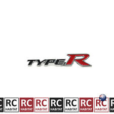 Black Honda Metal Auto Car Rear Badge Sticker Emblem TYPE R Logo Decals