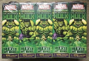 Heroclix Marvel The Incredible Hulk Booster Brick - 10 Sealed Boosters NEW!