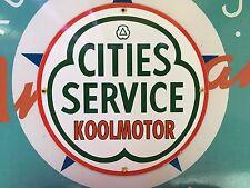 "top quality CITIES SERVICE ""koolmotor""  porcelain coated 18 GAUGE steel SIGN"