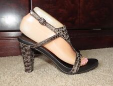 Donald J Pliner Brown Croco Print Leather Slingbacks Heels ~Sz 7 M
