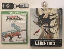 NEW Xbox One Burnout Paradise Remastered+BONUS keychain/Deadpool pin/megabloks!