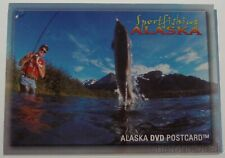 Alaska DVD Postcard Sport Fishing Travel Fisherman King Salmon Halibut Trout NEW