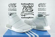 DS Adidas NMD CS1 PK City Sock Primeknit S32191 White Light Grey Gray Sz 6