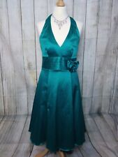 Beautiful Green Halter Neck RED HERRING Fit + Flare Dress Size 10