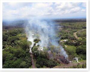 Kilauea Volcano Hawaii Fissure 5 Aerial View 2018 Silver Halide Photo