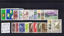 Danimarca/Denmark 1977 Annata completa 20 valori MNH