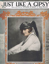 Show Music - Nora Bayes - Just Like a Gipsy - 1919