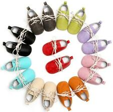 Lace-Up Solid Pu Leather Baby Shoes Newborn Toddler Anti-Slip Shoes