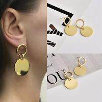 Fashion Women Alloy Geometric Pendant Dangle Drop Statement Earrings Jewelry