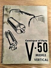 Rare Miehle Vertical V 50 Catalog Of Parts Pictorial Manual Printing Press