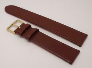 Brown Genuine Buffalo Leather Watch Strap Band 18mm (614S)
