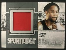 2009 Sports Kings Lennox Lewis Fight Worn Memorabilia Boxing Card Mint