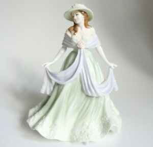 """Rare Beautiful Royal Worcester 'Jayne' Lady Figurine of The Year 2004 8"""" Tall"""