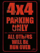 """4x4 Parking Only"" Light Up Sign Accessory for Jeep and 4x4 Vehicles"