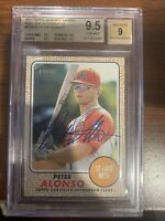 2017 Topps Heritage Minors Peter Alonso Rookie Auto BGS 9.5 Gem Mint 9 Auto RC