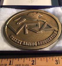 New VRA Valley Racing Association Horse Jockey Hit Line USA Brass Belt Buckle