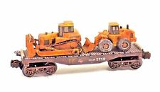 O LIONEL FLAT CAR EXCAVATOR BULLDOZER CONSTRUCTION VEHICLE CUSTOM TOY GIFT